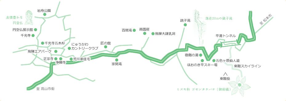 丹生川観光案内マップ